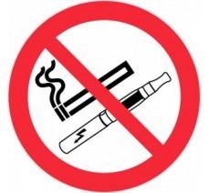 Panneau PVC rigide défense de vapoter et de fumer