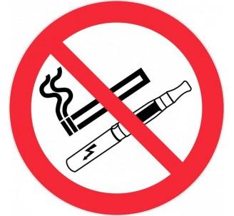 Adhésif souple défense de vapoter et de fumer