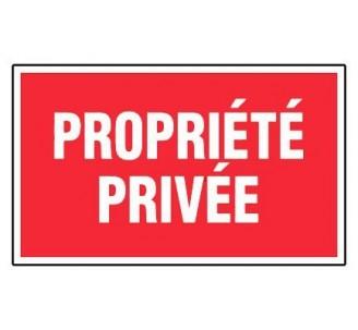 Panneau PVC rigide dim: H 200 x L 330 mm propriété privée