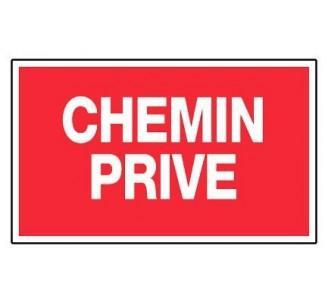 Panneau PVC rigide dim: H 200 x L 330 mm chemin privé