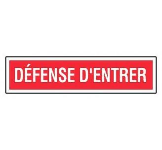 Panneau PVC rigide dim: H 75 x L 330 mm défense d'entrer