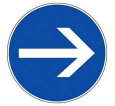 Adhésif souple  sens obligatoire droite ou gauche