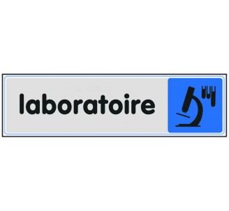Plaque de porte plexi couleur laboratoire