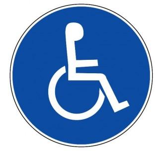 Panneau PVC rigide diamètre 300mm handicapé