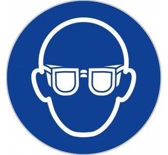 Panneau PVC rigide  lunettes de protection obligatoires
