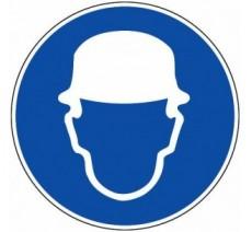 Panneau PVC rigide obligation de porter un casque