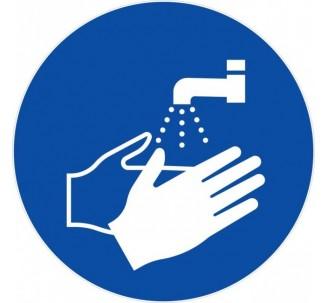 Panneau PVC rigide lavage des mains obligatoire