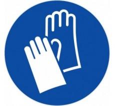 Panneau PVC rigide gants de protection obligatoires