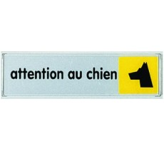 Plaque de porte plexi couleur Attention au chien