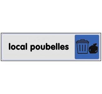 Plaque de porte plexi couleur local poubelles
