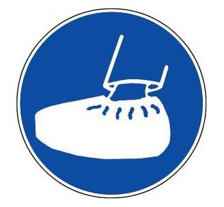Panneau PVC rigide obligation de porter des sur-chaussures