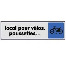 Plaque de porte plexi couleur local pour vélos, poussettes…