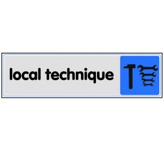 Plaque de porte plexi couleur local technique