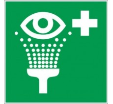 Adhésif ou panneau PVC rigide dim: H 200x L 200 mm Equipement de rinçage des yeux