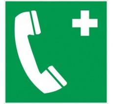Adhésif ou panneau PVC rigide dim: H 200x L 200 mm Téléphone de secours