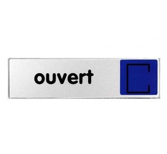 Plaque de porte plexi couleur ouvert