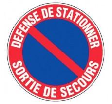 Panneau PVC rigide défense de stationner - sortie de secours