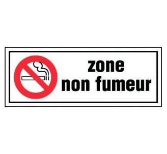 Panneau PVC rigide dim: H 120 x L 330 mm zone non fumeur