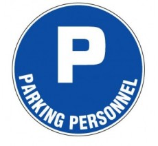 Panneau PVC rigide  Parking personnel