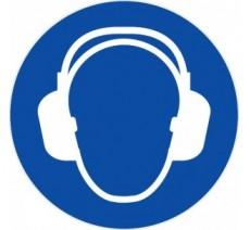 Panneau PVC rigide  casque anti-bruit obligatoire
