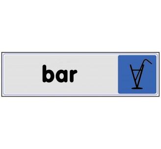 Plaque de porte plexi couleur Bar