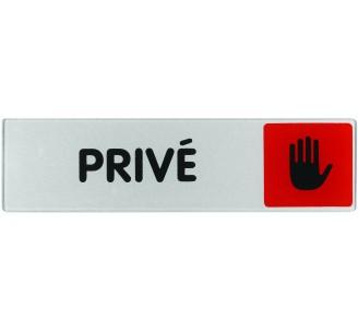 Plaque de porte plexi couleur privé