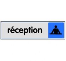 Plaque de porte plexi couleur réception
