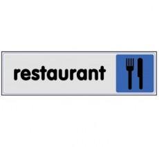 Plaque de porte plexi couleur restaurant