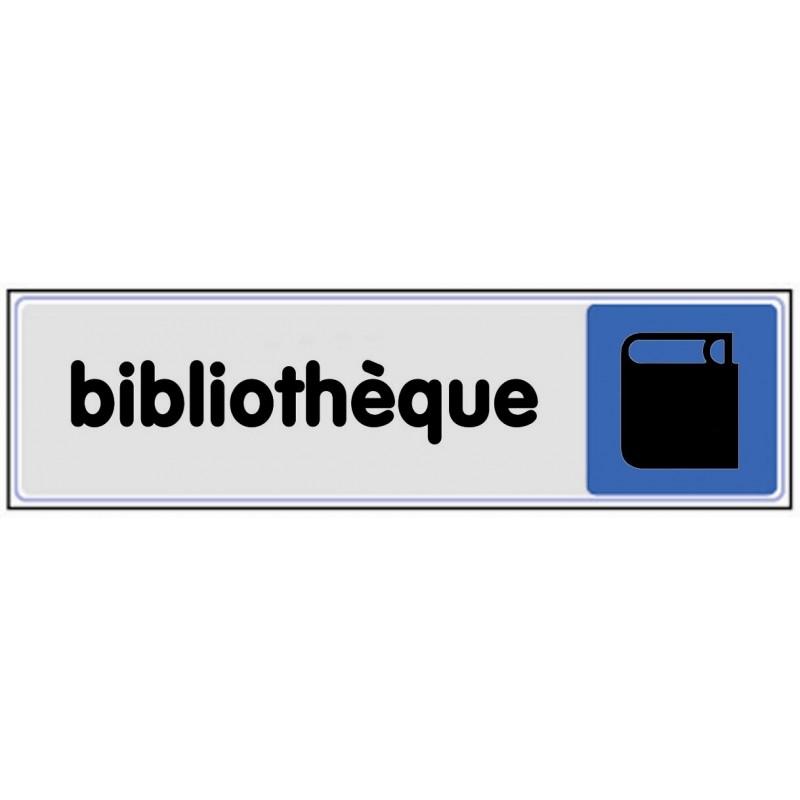 Plaque de porte plexi couleur biblioth que for Stickers bibliotheque porte