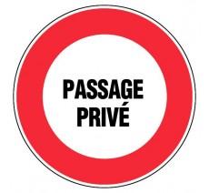 Adhésif souple diamètre 300mm Passage privé