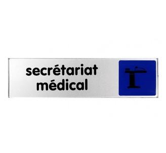 Plaque de porte plexi couleur secrétariat médical