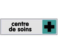 Plaque de porte plexi couleur Centre de soins