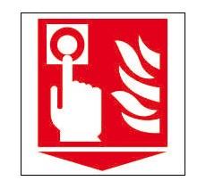 Panneau PVC Priplack dim: H 150 x L 150 mm bouton alarme incendie