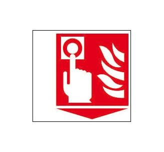 Panneaux PVC Priplack dim: H 150 x L 180 mm bouton alarme incendie en drapeau