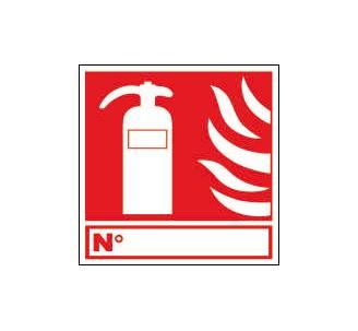Panneaux PVC Priplack dim: H 200 x L 200 mm extincteur