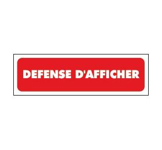 Panneaux PVC Priplack dim: H 60 x L 200 mm défense d'afficher