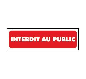 Panneaux PVC Priplack dim: H 60 x L 200 mm interdit au public