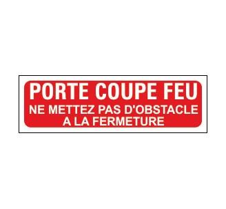 Panneaux PVC Priplack dim: H 60 x L 200 mm porte-coupe-feu-ne mettez pas d'obstacle à la fermeture