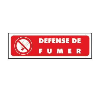 Panneaux PVC Priplack dim: H 60 x L 200 mm défense de fumer