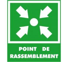 Panneaux PVC Priplack dim: H 400x L 300 mm point de rassemblement