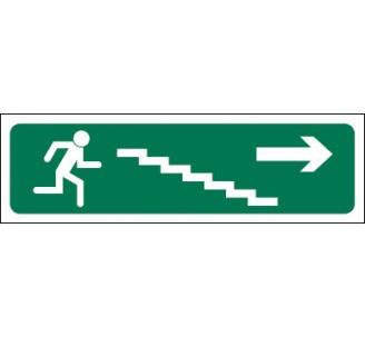 Panneaux PVC Priplack dim: H 60 x L 200 mm évacuation escalier descendant