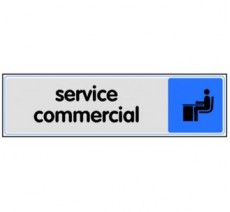 Plaque de porte plexi couleur service commercial