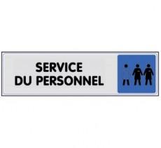 Plaque de porte plexi couleur service du personnel