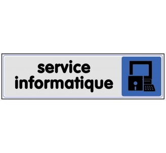 Plaque de porte plexi couleur service informatique