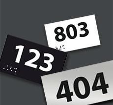 Numéro de chambre Relief / Braille