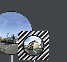 Miroirs de circulation routière