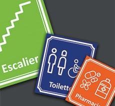 """Plaques de porte """"Côté rue"""""""