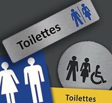 Signalétique Toilettes et Sanitaires