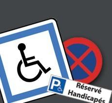 Panneaux et Pochoirs de parking PMR