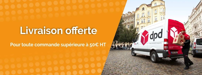 Transport offert dès 50€ HT